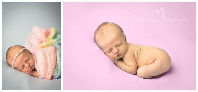 Rainbow newborn baby