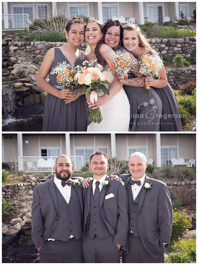 Bridal party at Bay Pointe Inn on Gun Lake photographed by Melissa Gregersen Photography