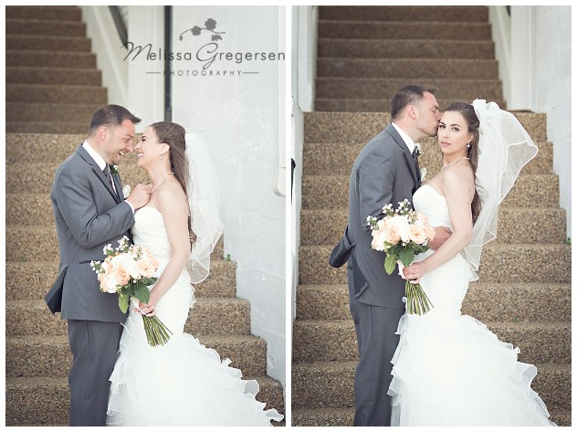 Love and smiles from bride and groom at the Bay Pointe Inn Wedding Boathouse