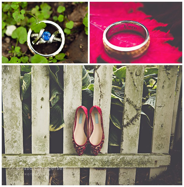 Rings and shoes. It's all in the details!