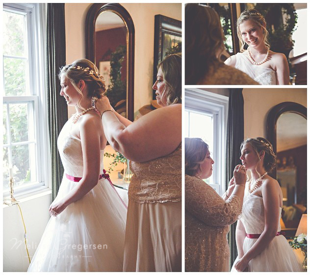 The window light cast upon the perfect moments of the bride and her mom getting ready.