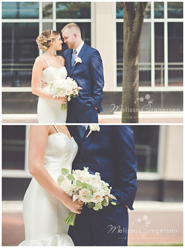 Romantic moments captured of the bride and groom before the ceremony.