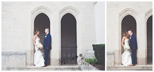 Local church provided a beautiful backdrop for bridal portraits that should end up on their homes' wall!