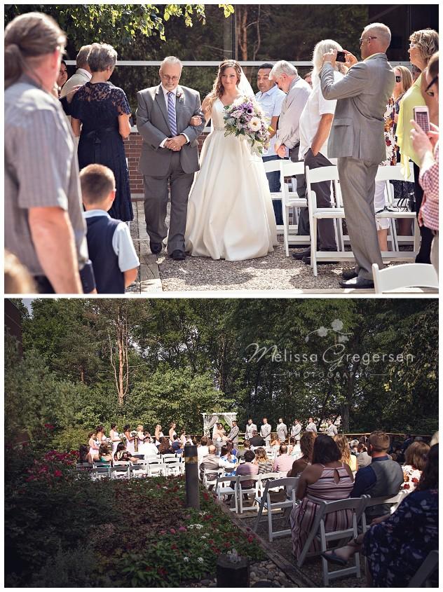 Wedding ceremony at the Fetzer Center