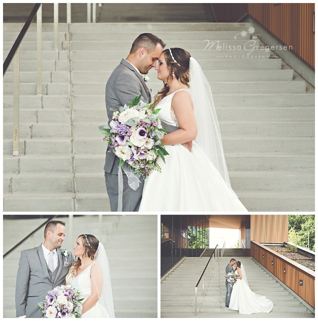 The stairway at Western Michigan University is perfect for wedding photography.