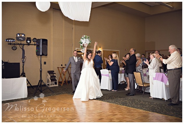 Grand entrance to the reception as husband and wife!