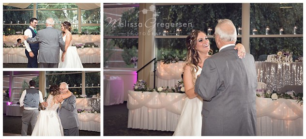 the bride enjoying dances with the special people in her life.