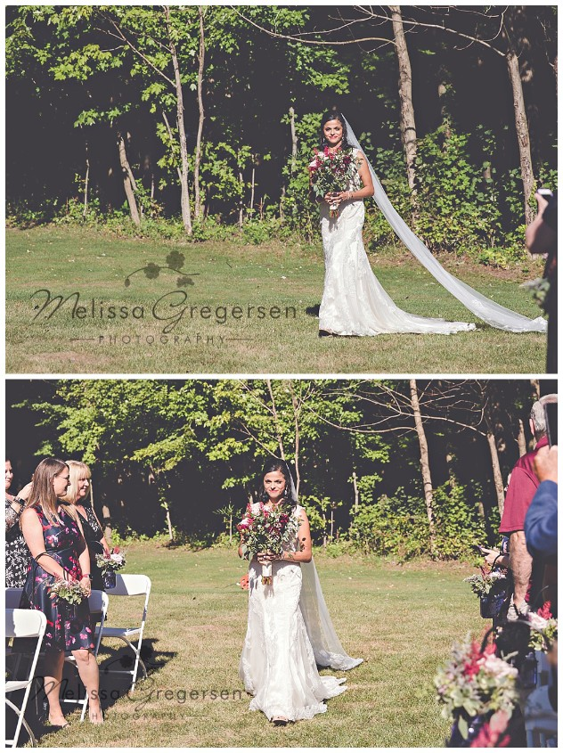 Here comes the beautiful bride!