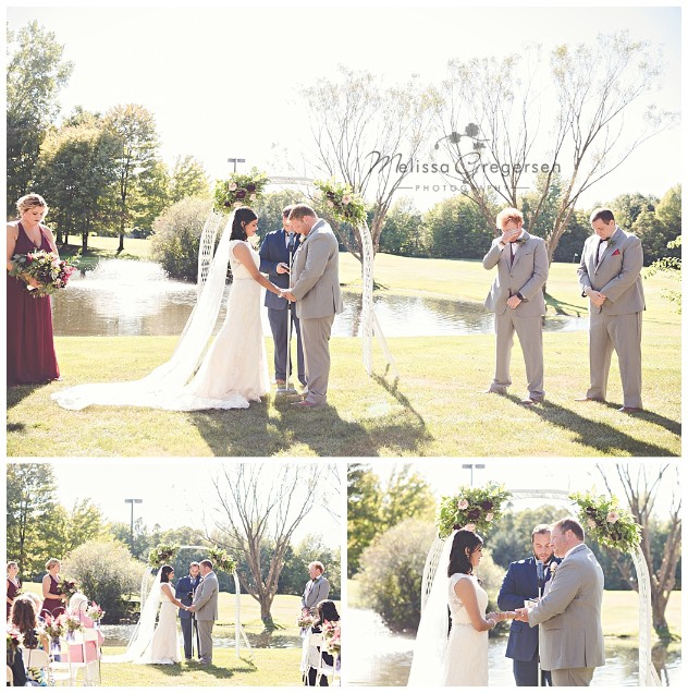 So serene and gorgeous outdoor wedding.