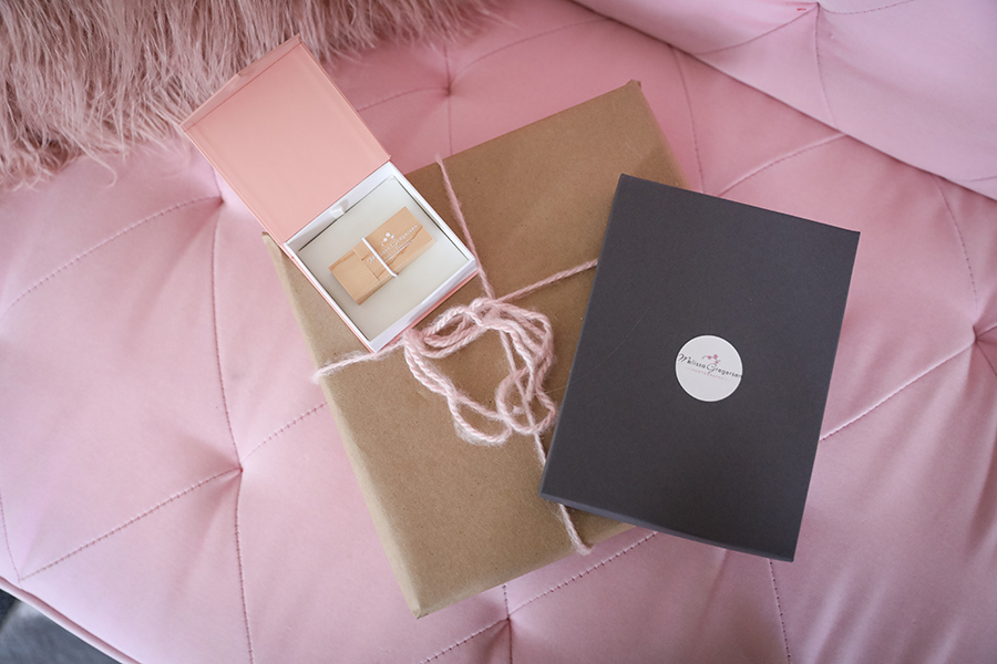 Pink Pretty USB packaging for Gregersen Photography Studio