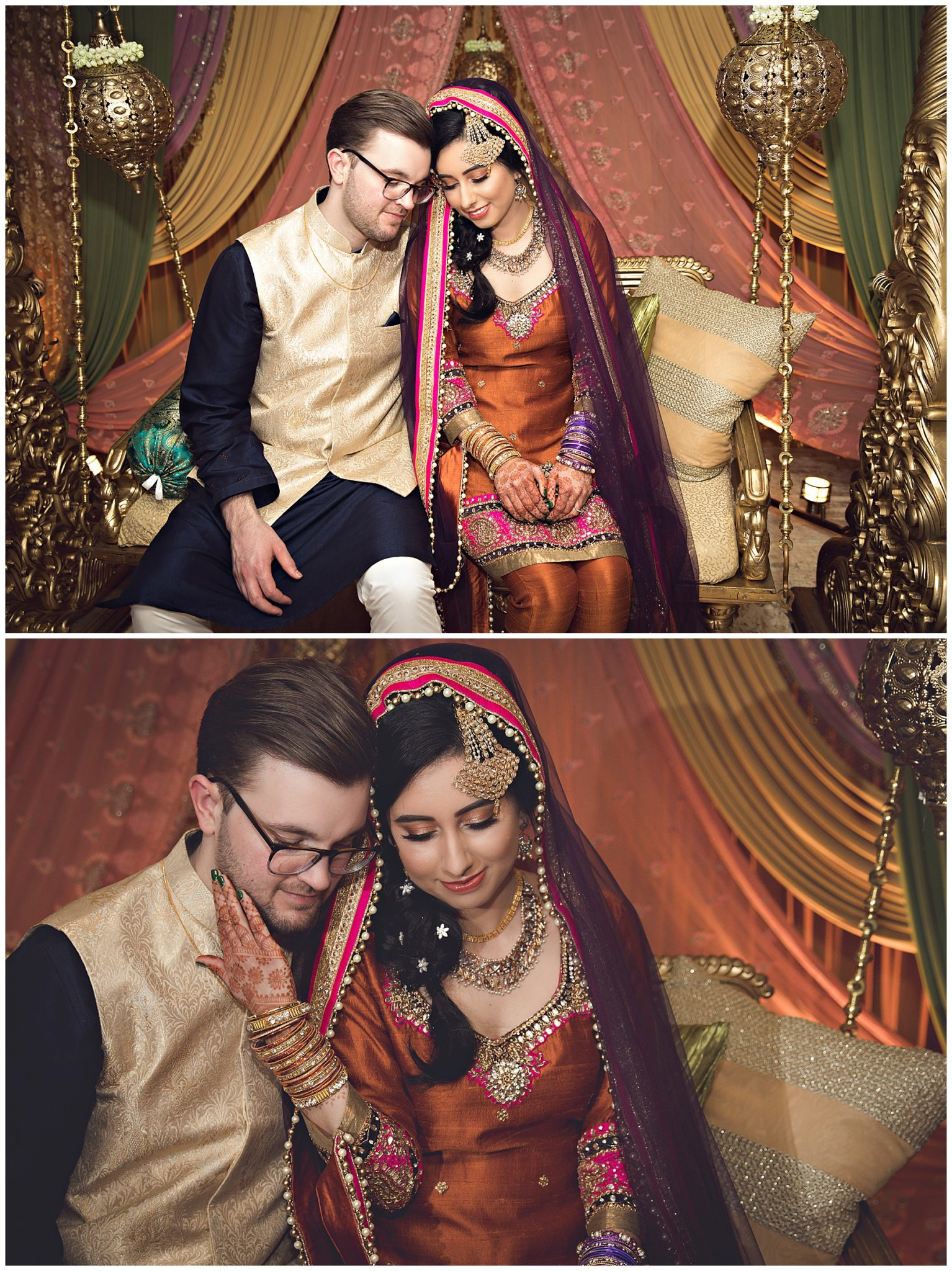 Bride and Groom at Mehndi Radisson in Kalamazoo MI