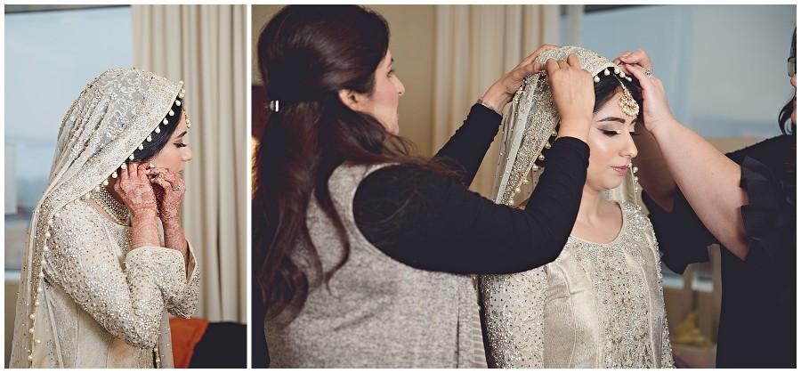 Bride getting ready Pakistani Wedding in Kalamazoo Michigan Gregersen Photography