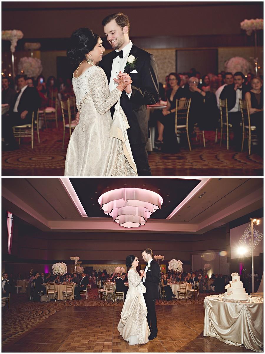 First dance for bride and groom Pakistani Wedding in Kalamazoo Michigan Gregersen Photography