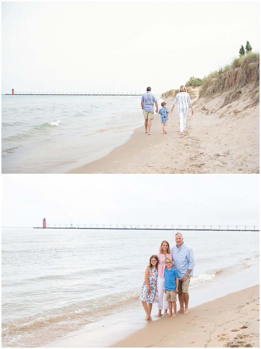 Family vacationing in south haven Michigan photography session
