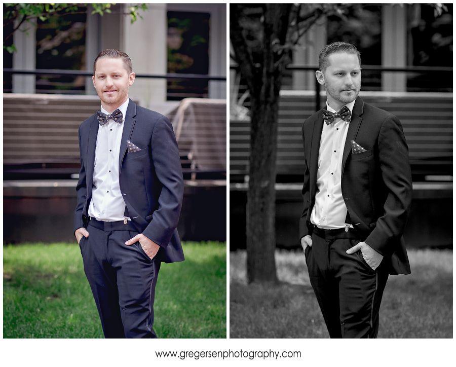 groom portraits on his wedding day