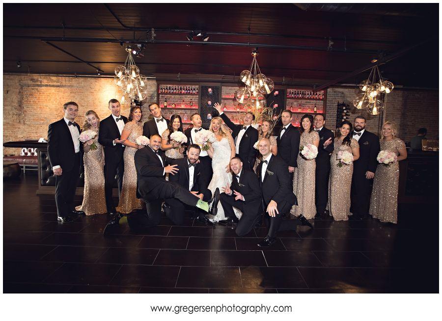 Bridal Party having fun at the Gatsby in Kalamazoo