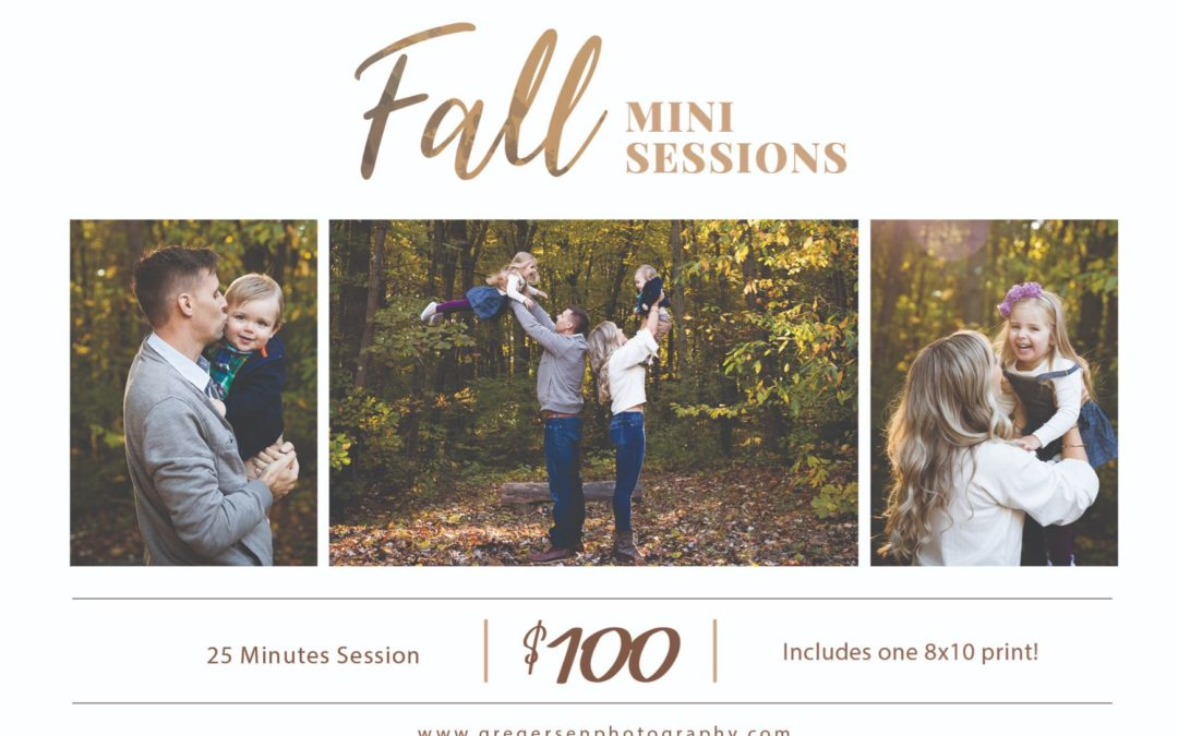 2019 Fall Family Photography Sessions Announced!