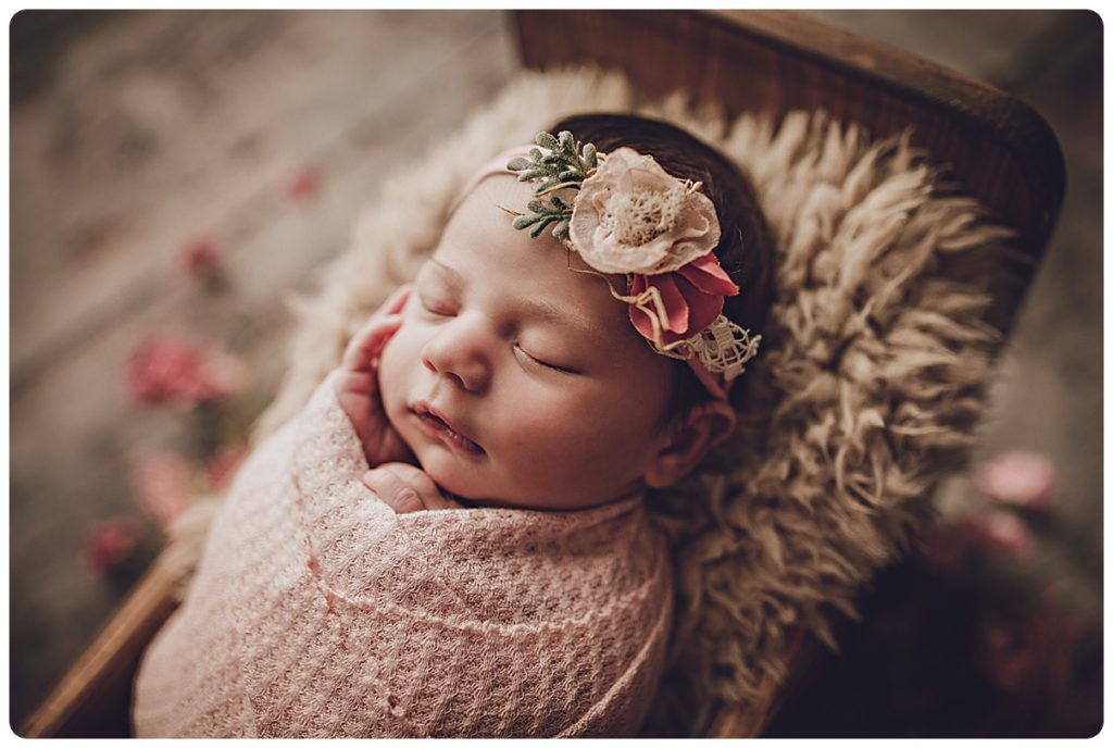 Newborn baby girl photograph