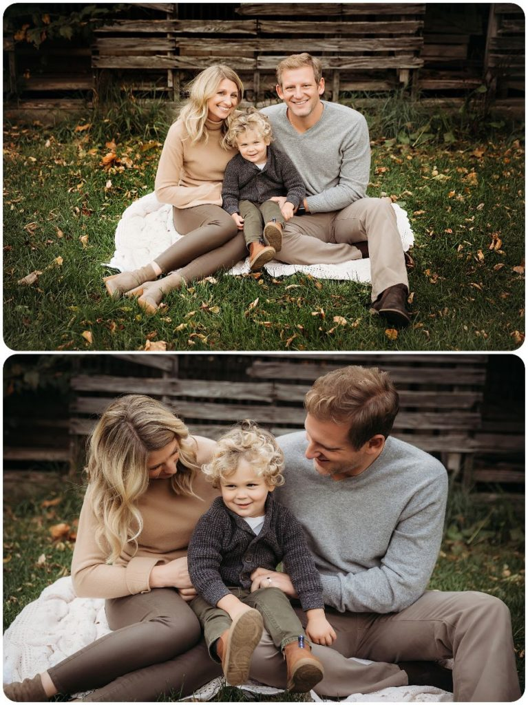 Fall family photography session in Kalamazoo Michigan
