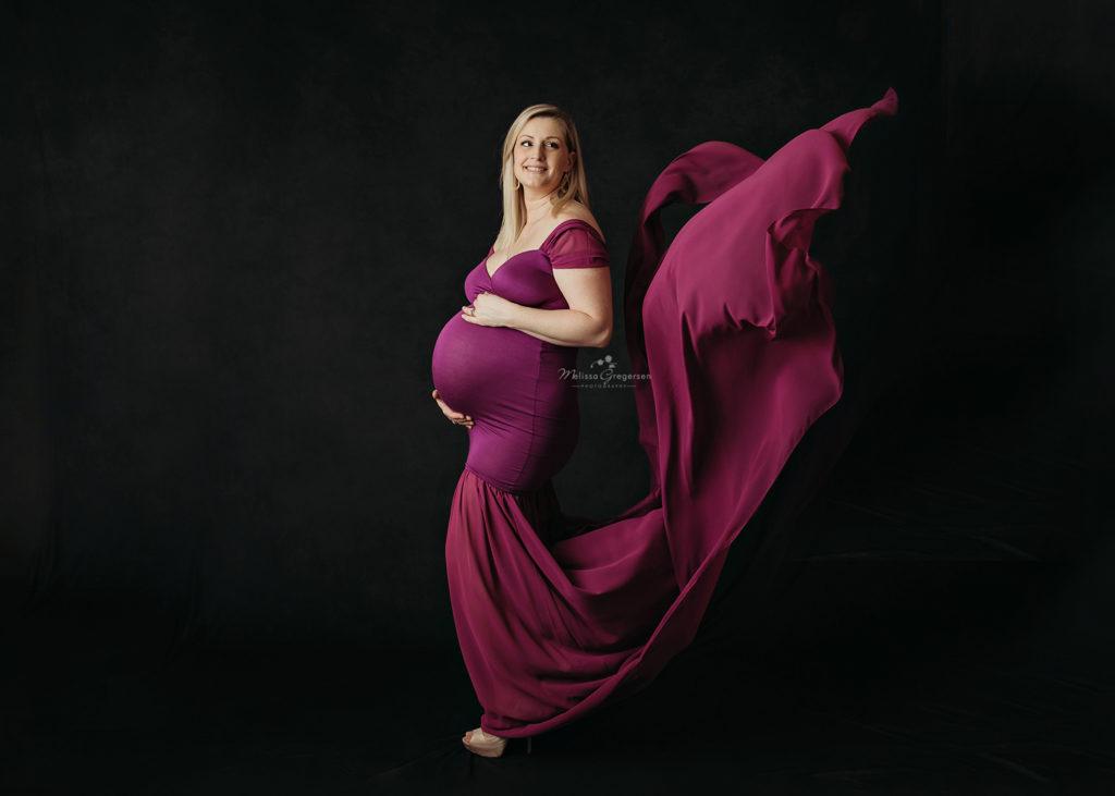 Maternity Photography at Gregersen Photography Studio in Kalamazoo, MI